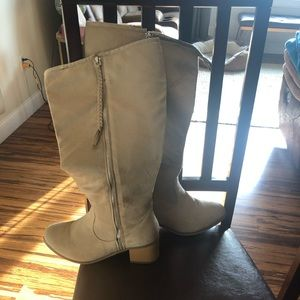 Suede wife-calf tan boots size 8.5